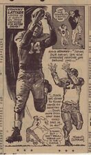1953 newspaper panel - Johnny Lattner - Notre Dame Football player
