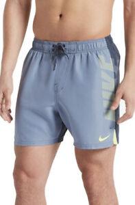 Nike Swim Shorts Mens XL Grey And Yellow Swimming Shorts Swimwear
