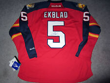 AARON EKBLAD Florida Panthers SIGNED Autographed JERSEY w/ BAS COA New L CALDER