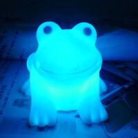 Cute Magic LED Night Light Frog Shape Colorful Color Bar Room Changing Lamp M9F9