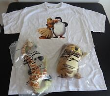 MADAGASCAR 2 Escape Africa PROMO Shirt + 2 Plush NEW Dreamworks Melman Mort 2008