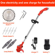 More details for electric garden edger electric handheld rechargeable cordless grass trimmer home