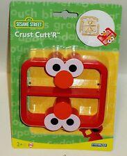 Sesame Street Crust & Sandwich Cutter & Works Great On Pancakes RED ELMO SHAPE