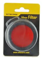 Nitecore NFR50 50mm Red Tactical Filter for 50mm LED Flashlights