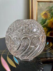 Rare Antique Cut Glass Oil Lamp Shade