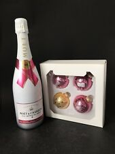Moet Chandon Ice Imperial Rose Champagne 0,75l 12% Vol + 4 Moët Weihnachtskugeln