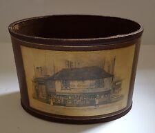 Vintage Oval Storage Box The Old Curiosity Shop Anne Croft Cardboard