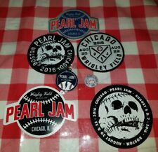 PEARL JAM Patches Pin Stickers Key Ring Wrigley Field Chicago Boston Fenway 2016
