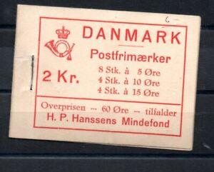 DENMARK , 1937 , scarce full booklet HANSSEN FONDS , MNH ( 15 ö crease )