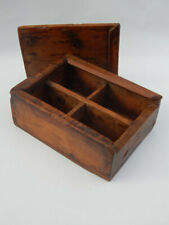 Boite a Epices Ancienne Masala Box Bois Teck Inde 19x15x7,5cm