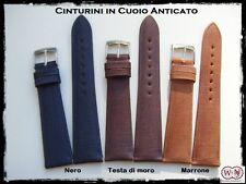 Cinturini artigianali in cuoio anticato 18-20-22mm. Handmade leather