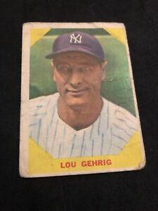 1961 Fleer Greats #28 Lou Gehrig New York Yankees HOF (offgrade) NO RESERVE