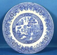 "Vtg Antique W. Adams & Sons Staffordshire Blue Willow 7"" Dessert Pie Plate China"