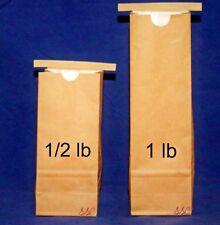 *100-200/pk* 1/2 lb - 1 lb Brown Kraft Tin-Tie Bags w/White Kraft Liner *Bulk*