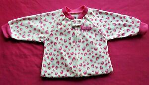 Carters Sleep Sack Safe Sleep Blanket Girls Size Small 0-9 Months Micro-fleece