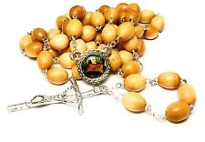 St Thomas More RELIC wooden rosary PATRON large families, lawyers, politicians