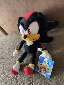 Genuine Sega Sonic The Hedgehog - Shadow Sonic Plush - 30cm - Soft Toy BNWT