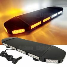 "28"" LED 216W Emergency Beacon Flasher Vehicle Truck Strobe Light Bar Amber&White"