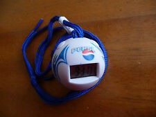 Pepsi ball clock stopwatch advertising used rare watch blue sport