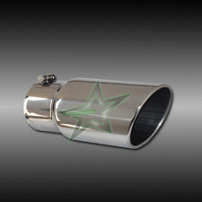 "4"" inlet 5"" outlet 12"" long Stainless Steel Rolled Angle Exhaust Tip"