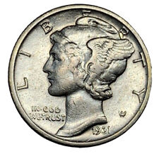 New listing 1931-S Mercury Dime, Tougher Date San Francisco Issue ~