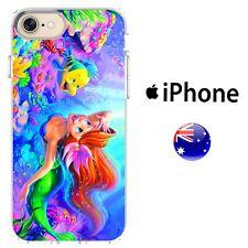 The Little Mermaid Case Cover Silicone Disney Princess Ariel Cute Colour ocean