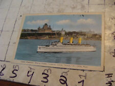 Orig>Vint>post card<1942 quebec wATERFRONT W CHATEAU FRONTENAC, SHIP