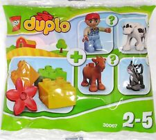 LEGO Duplo Farm 30067 Polybag Tüte, 3 Steine 1  Blume 1 Figur= Bauer Junge NEU