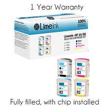 4PK ink cartridges For HP10 /82 C4844 C4911 C4912 C4913 Designjet 800 HP82 HP 10