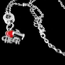 Cheer necklace  cheerleader  cheering  diamond cut chain   best jewelry gift