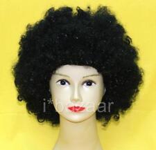 Fancy Dress Party Hippy Costume Unisex Black Afro Wig