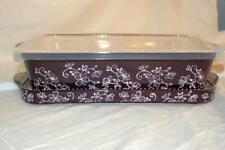 Temptations Floral Lace Eggplant 2.5 Qt Baker Lid It Plastic Storage Cover NEW