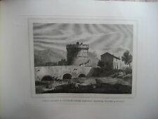 Gravure XIXè  - Ponte Lucano - Rome - Italie - Moschetti -1872