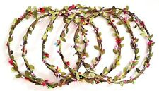 Bridal Hawaii Party Rose Floral Festival Wedding Garland Headband 5pc for £9.99
