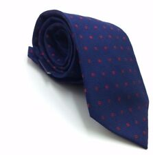 $95 CLUB ROOM Mens NAVY BLUE RED CHECK DOT TIE CLASSIC SLIM SILK NECKTIE 58x3.25