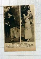 1919 Ladies Victory Golf Mrs Cross, Mrs Thurgood