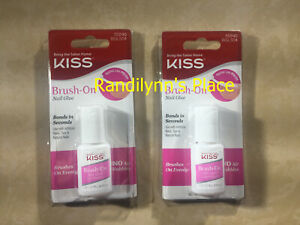 Kiss Brush-On Nail Glue 0.17oz, Pack of 2 - Fast Shipping  BGL504