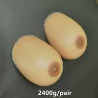 2400G/Pair Silicone Breast Forms Silicone Breast Mastectomy 44E 46Dd 48D Gifts