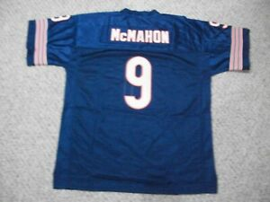 JIM McMAHON Unsigned Custom Chicago Blue Sewn New Football Jersey Sizes S-3XL