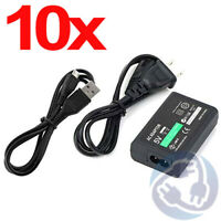 Wholesale Lot - 10x AC Power Adapter Charger Sync Cable for Sony PS Vita 2000