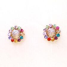 Fashion Jewelry - 18K Rose Gold Plated Sun Flower Stud Earrings (FE123)