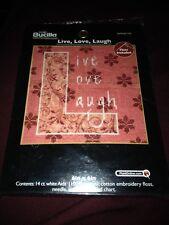 Live, Love, Laugh Nip Cross Stitch Kit