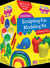 Dazzlin Primary Dough Kit Red Yellow Green Blue Scented