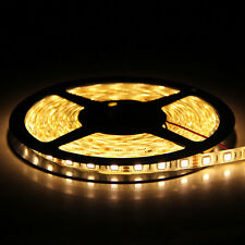 5m 500cm 5050 Warm White SMD 300LED Waterproof Flexible Strip Light Lamp DC 12V