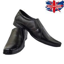 Nuevos Zapatos para hombre Negro De Cuero Sin Cordones Inteligente Vestido Formal Traje Cena de todos los tamaños
