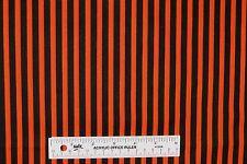 Halloween Black and Orange Stripes Cotton Fabric  BTY   (F1) +