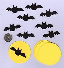 Halloween Die Cuts - 10 Bats and 10 Moons - Bat Die Cuts - Moon Die Cuts