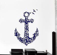 Wall Vinyl Sticker Anchor Birds Romantic Ocean Ship Cool Decor z3865
