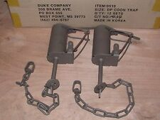 2 Powder Coated Duke DP Dog Proof Coon Traps Trapping Raccoon NEW SALE