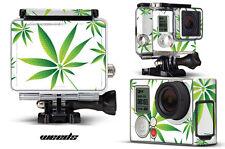 Haut Aufkleber für GoPro Hero 3+ Kamera & Case Decal Hero 3+ Go Pro Unkraut weiß